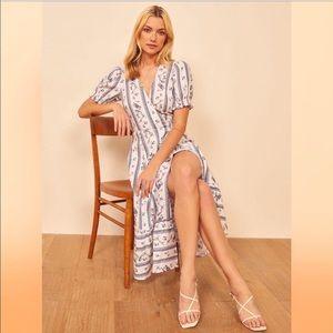 NWT Reformation Veronika Floral Wrap Midi Dress
